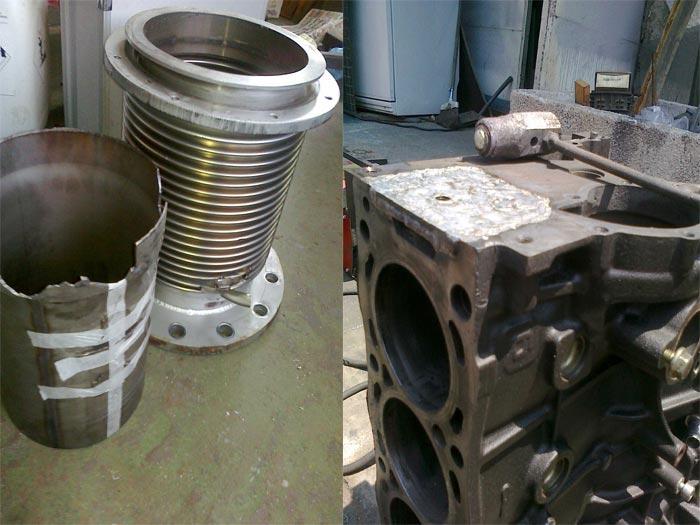 Заваряване, нававаряне и възстановяване детайли с аргоново заваряване, MIG-MAG/CO2, ръчно електродъгово заваряване, микро-капилярно заваряване